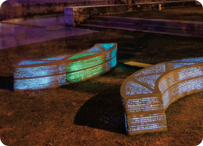 2018, The Illuminating Arc Bench