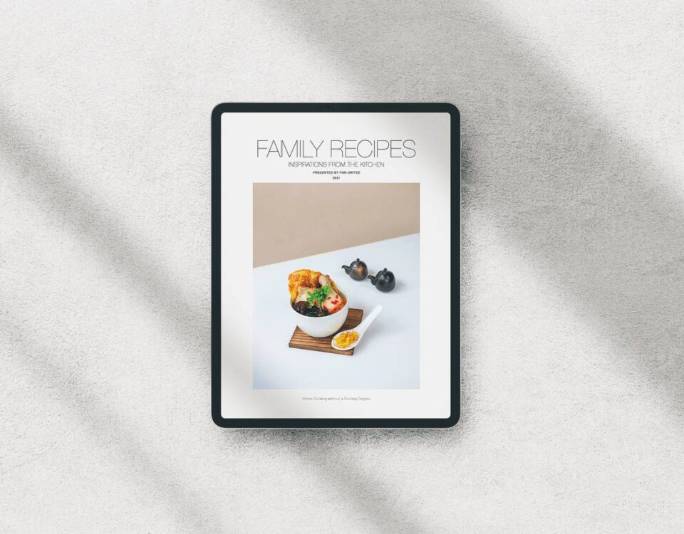 Pan U Recipes Book in English Language